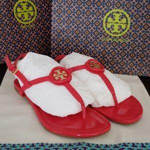 🌟EUC Tory Burch Dillan Patent Leather Sandles